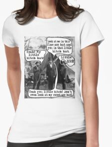 Abe Lincoln and the Little Bitch Hat Womens Fitted T-Shirt
