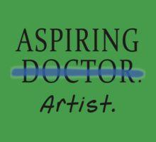 Aspiring Artist NOT Aspiring Doctor Baby Tee