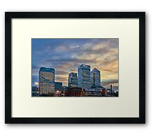 Canary Wharf skyline Framed Print