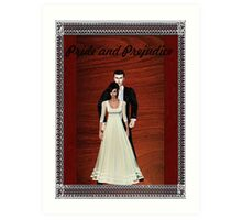 Pride and Prejudice Darcy and Lizzy Art Print