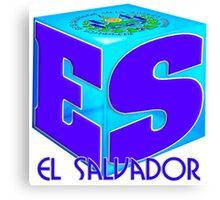 El Salvador cubo Canvas Print