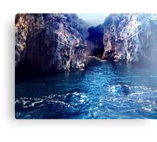 The Greek Cliffs  Canvas Print