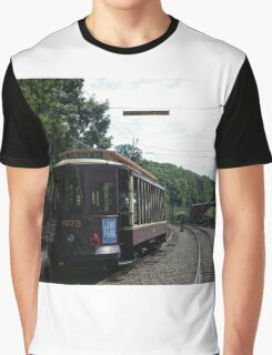 Classic Brooklyn Trolley, Shoreline Trolley Museum, East Haven, Connecticut Graphic T-Shirt