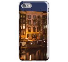 Night Lights on the Amsterdam Canals 7. Holland iPhone Case/Skin