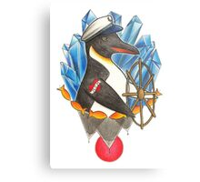 Captain Penguin Metal Print
