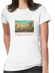 Dog Breed - the English Setter Womens Fitted T-Shirt