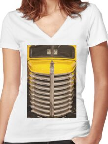 Antique 1947 Diamond T 201 Pick-up Women's Fitted V-Neck T-Shirt