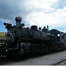 Classic Locomotive, Cumbres Toltec Narrow-Gauge Railroad, New Mexico by lenspiro
