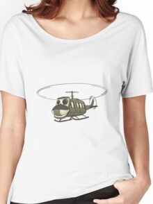 Military Helicopter Cartoon Women's Relaxed Fit T-Shirt
