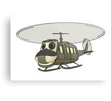 Military Helicopter Cartoon Metal Print