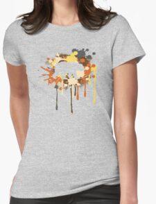 Splat Bear Womens Fitted T-Shirt
