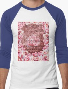 Waltz Of The Flowers Pink Roses Dance Men's Baseball ¾ T-Shirt