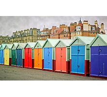 Hove Huts and Mansions Photographic Print