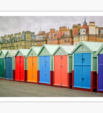 Hove Huts and Mansions Sticker