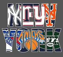 New york sport teams mash up by American Artist