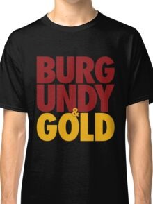 Burgundy & Gold Redskins DC Football by AiReal Apparel Classic T-Shirt