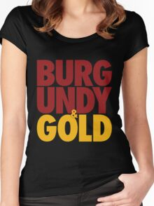 Burgundy & Gold Redskins DC Football by AiReal Apparel Women's Fitted Scoop T-Shirt