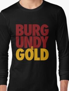 Burgundy & Gold Redskins DC Football by AiReal Apparel Long Sleeve T-Shirt