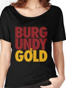 Burgundy & Gold Redskins DC Football by AiReal Apparel Women's Relaxed Fit T-Shirt