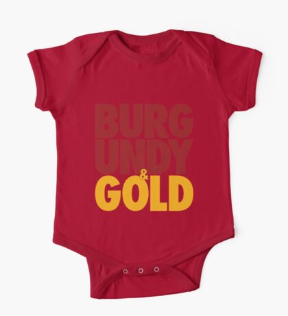 Burgundy & Gold Redskins DC Football by AiReal Apparel One Piece - Short Sleeve