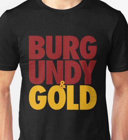 Burgundy & Gold Redskins DC Football by AiReal Apparel Unisex T-Shirt