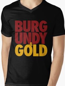 Burgundy & Gold Redskins DC Football by AiReal Apparel Mens V-Neck T-Shirt