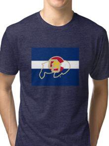 University of Colorado Boulder / Colorado Flag - Tri-blend T-Shirt