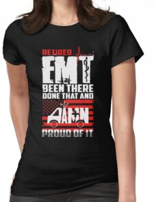 Retired EMT Womens Fitted T-Shirt