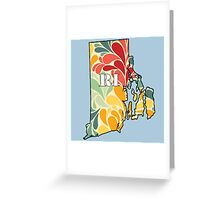 Floral Rhode Island Greeting Card