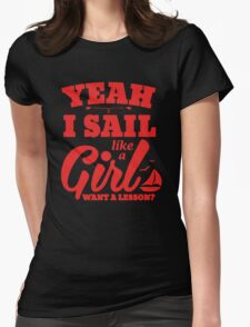 Sail Like a Girl Womens Fitted T-Shirt