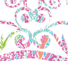 Lilly Pulitzer Inspired Tiara - Lets Cha Cha Sticker