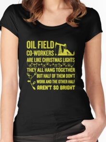 Oil Field Co-workers Women's Fitted Scoop T-Shirt