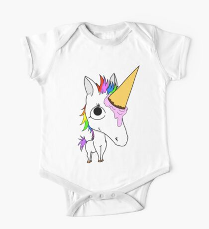 Baby Arnold - The Ice Cream Cone Unicorn One Piece - Short Sleeve