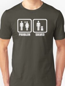 Funny Problem Solved Dogs T-Shirt