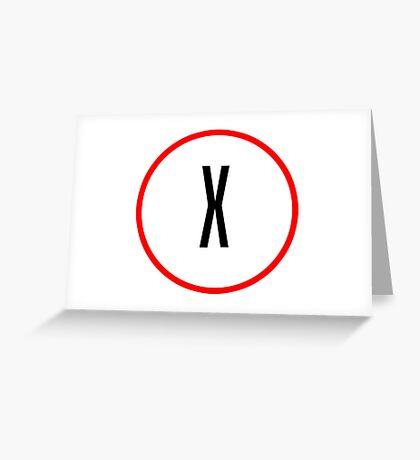 X Files X Greeting Card