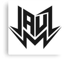 Jauz - Logo - Black Canvas Print