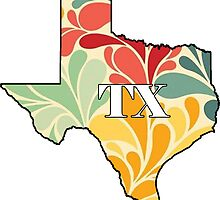 Floral Texas by bperky