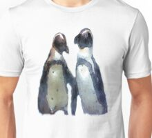 Painterly Penguin Pair Unisex T-Shirt