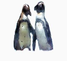 Painterly Penguin Pair Unisex T-Shirt