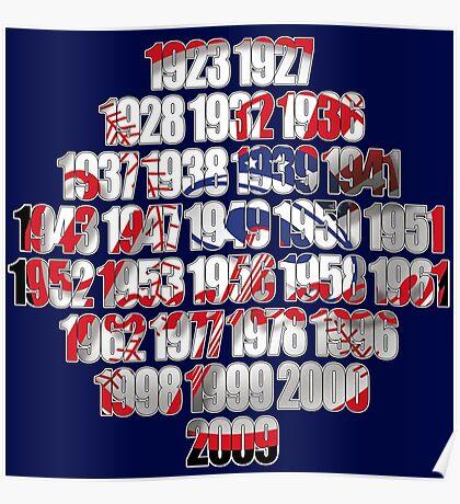 New york Yankees world series championships Poster