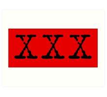 X Files XXX Art Print