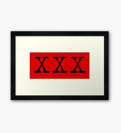 X Files XXX Framed Print