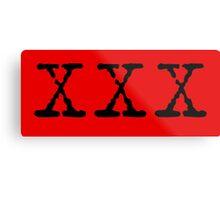 X Files XXX Metal Print