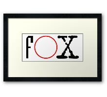FOX - X files Framed Print