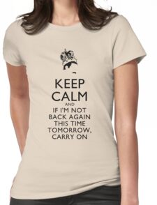 Freddie Mercury Keep Calm Womens Fitted T-Shirt