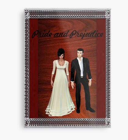 Pride and Prejudice Darcy and Lizzy 2 Metal Print