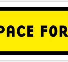 Advertising space for sale Sticker