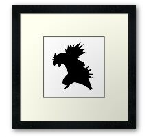 Typholosion silhouette Framed Print