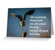 Wind Beneath Your Wings Greeting Card