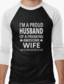 I'm A Proud Husband Of A Freaking Awesome Wife T-Shirt